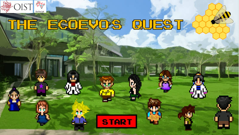 "EcoEvo's Quest ""video game"" with our arcade avatars"
